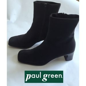 Paul Green Microfiber Back Ankle Boots Sz 8 US
